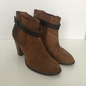 Madewell Brown Leather Booties
